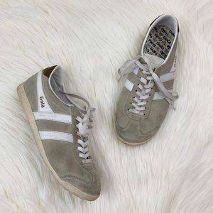 Gola Bullet Tan Suede Sneakers